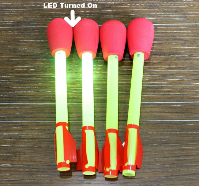 LED rocket toy
