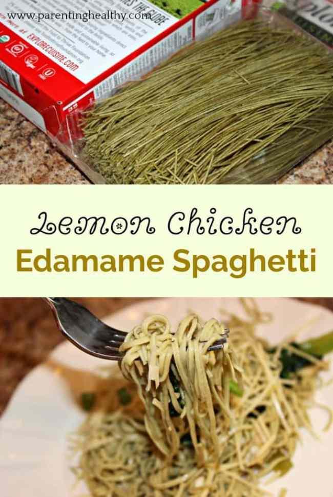 Lemon Chicken Edamame Spaghetti Recipe