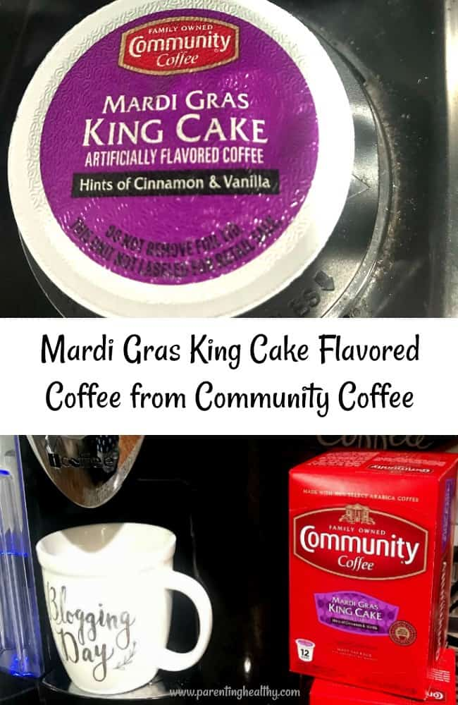 Mardi Gras King Cake Flavored Coffee from Community Coffee