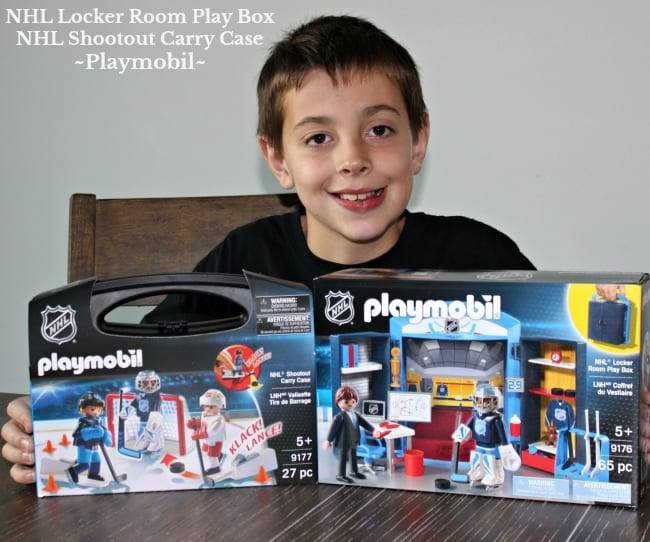 NHL Locker Room Play Box and NHL Shootout Carry Case