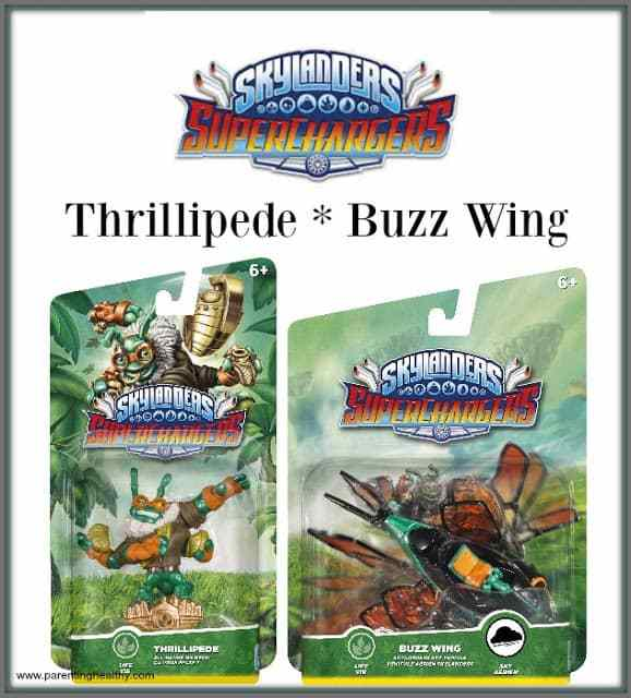 New #Skylanders SuperChargers: Thrillipede and his Vehicle Buzz Wing