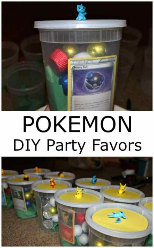 Pokemon DIY party favors