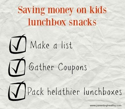 Healthy lunchboxes