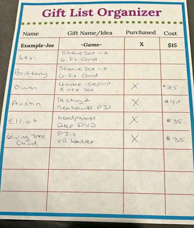 List example