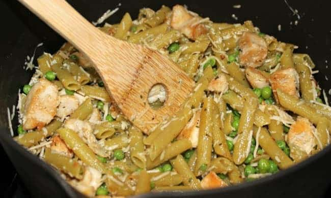 penne with chicken