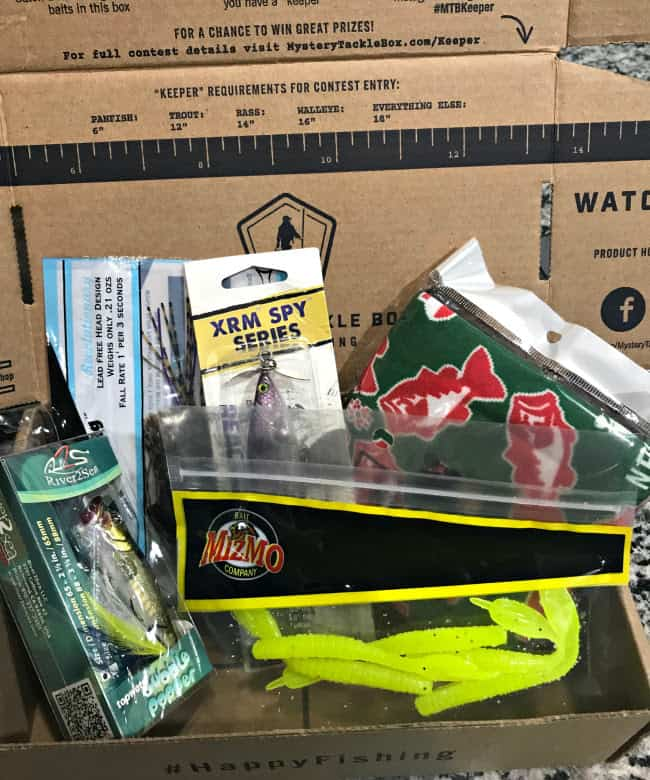 Mystery tackle box review by erinn sluka mystery tackle for Fishing box subscription