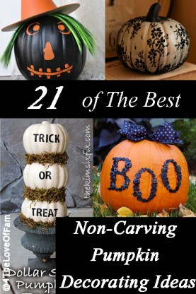 @ParentingBeyond 21 Of The Best Non-Carving #Pumpkin Decorating Ideas! #Halloween http://bit.ly/ZTiJBa