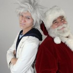 "Jake Kolesar as Jack Frost and Leo J. Northart III as Santa in The Children's Theatre of Cincinnati's production of ""The Day Before Christmas.""  Photo by Mikki Schaffner."