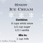How to make Snow Ice Cream Recipe - SAVE THIS!!