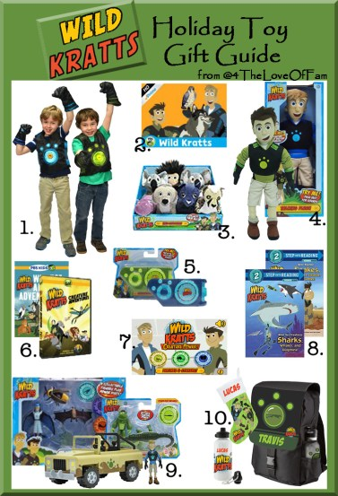 .@4TheLoveOfFam @WildKrattsOffic Wild Kratts Complete Holiday Toy Gift Guide #WildKratts #KrattBrothers #HolidayGiftGuide #ActivateCreaturePower #ActivateCreaturePowers
