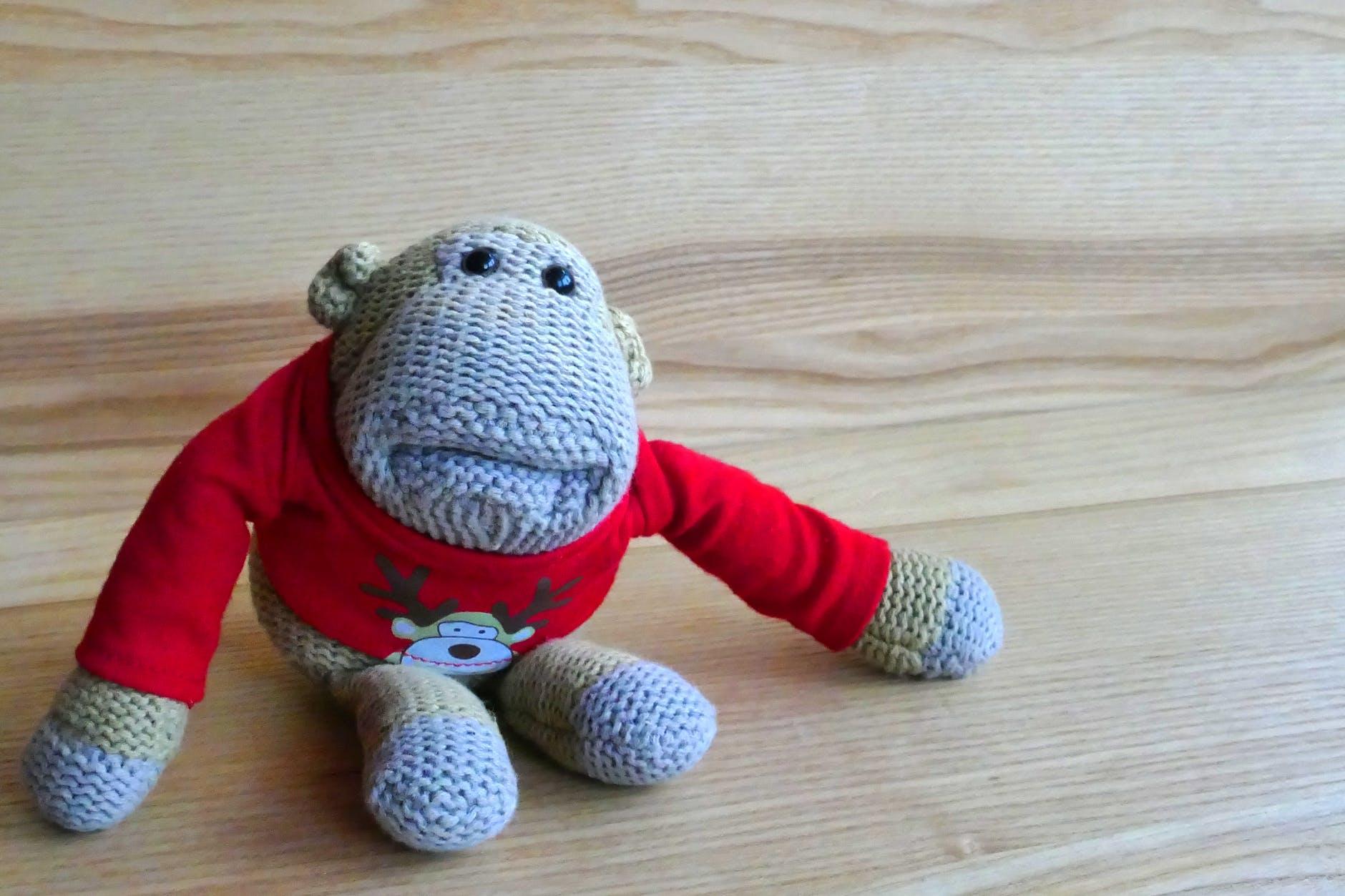 cute monkey play stuffed toy