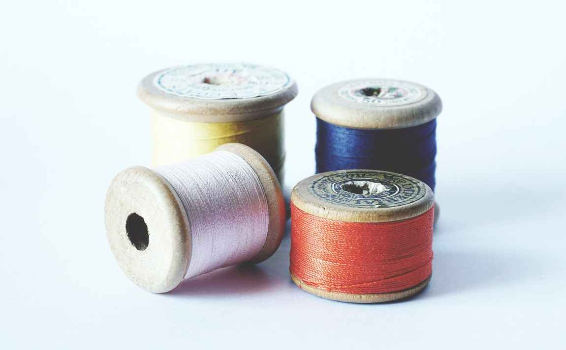 four thread spools