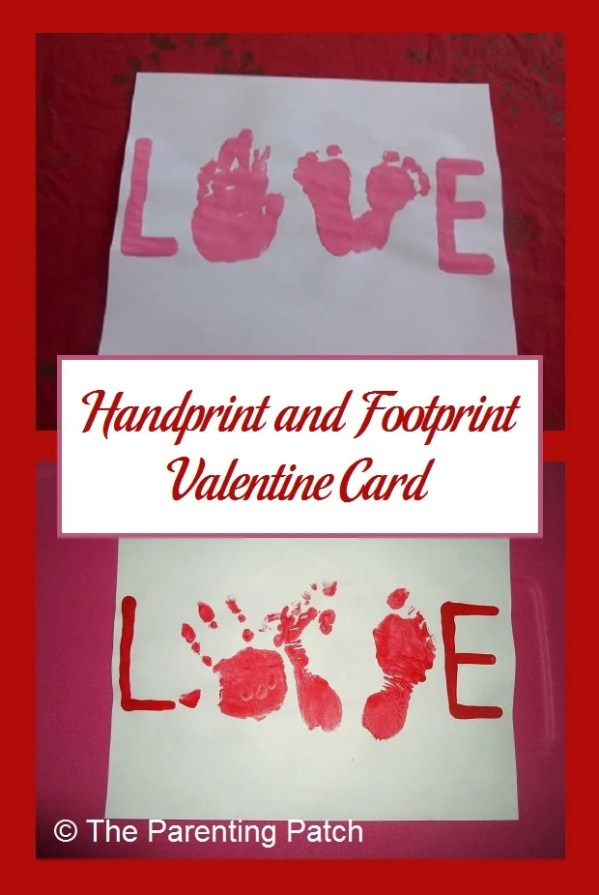Handprint and Footprint Valentine Card | Parenting Patch