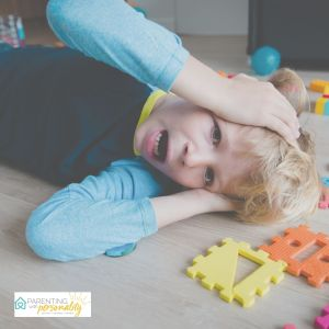 Child having a difficult time dealing with emotions