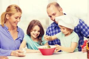 Partage échange famille dîner école