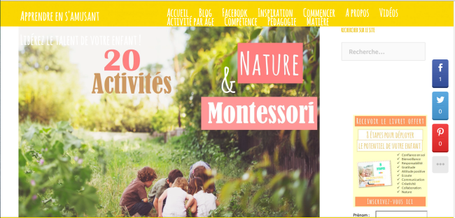 Apprendre en amusant 20 activites Nature Montessori