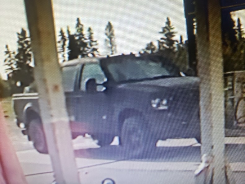 Photos - Shellbrook RCMP: looking for truck involved in theft and hit and run in Holbein_2