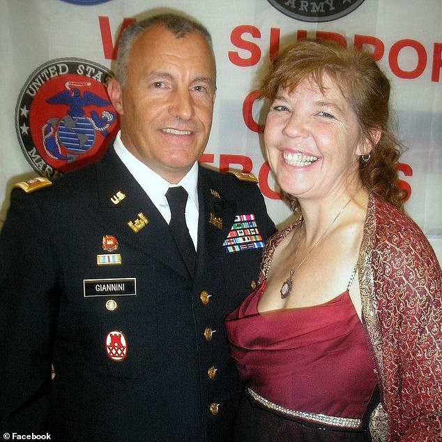 The teacher was married to Lt Colonel Thomas Giannini, who has had three overseas deployments to Iraq and Afghanistan