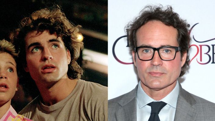Jason Patric in 1987 and 2019. (Credit: Warner Bros/Phillip Faraone/Getty Images for Red Songbird Foundation)