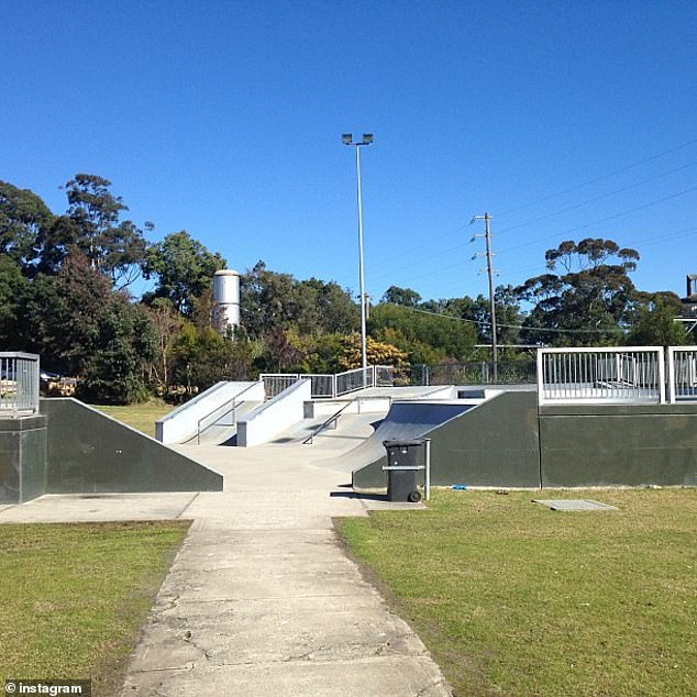 The schoolgirl had been at Thornleigh's skate park (pictured) when she went missing on April 28