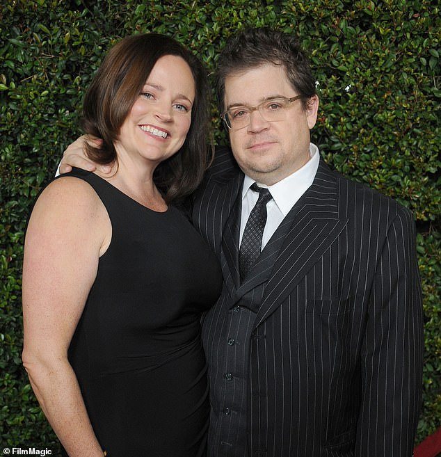 After McNamara's death, aged 46, her husband Patton Oswalt (right) solicited the help of Paul Haynes and Billy Jensen, two investigative journalists and friends of McNamara, who worked to finish off her book.