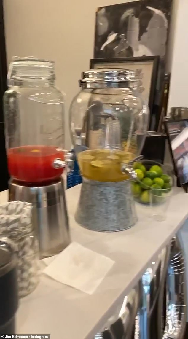 Summer fresh: The amenities included a two-flavor margarita bar