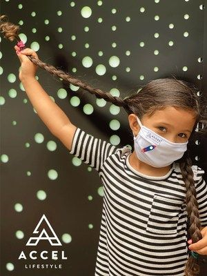 """Accel Lifestyle's Children's Prema® Anti-Bacterial Face Masks. The CDC recommends face coverings for children two years old and up. """"We wanted to create an option to fit a child's face, all while providing extra protection against the virus,"""" said Accel Lifestyle Founder and CEO Megan Eddings. """"We feel so fortunate to be able to provide a product that not only provides an additional layer of safety and health, but also a product that is soft, comfortable against the skin and 100% made in the USA."""