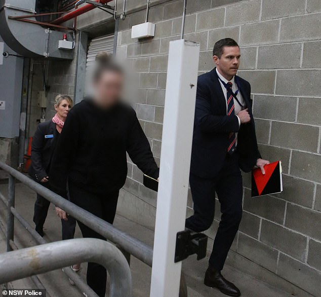 The teacher was taken to Bankstown Police Station where she was charged with10 offences