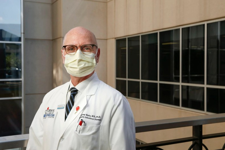 Dr. Jeffrey Kahn, the Chief of Pediatric Infectious Diseases at Children's Health, poses for a photograph on Monday, July 20, 2020 in Dallas.
