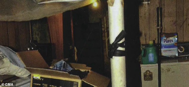 Another interior shot shows the disarray and squalid conditions inside Castro's home, where he kept his kidnapped victims and raped them for years, authorities said