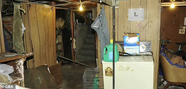 A picture of the inside of Castro's home, where he was alleged to have kept his kidnapped victims and raped them for years