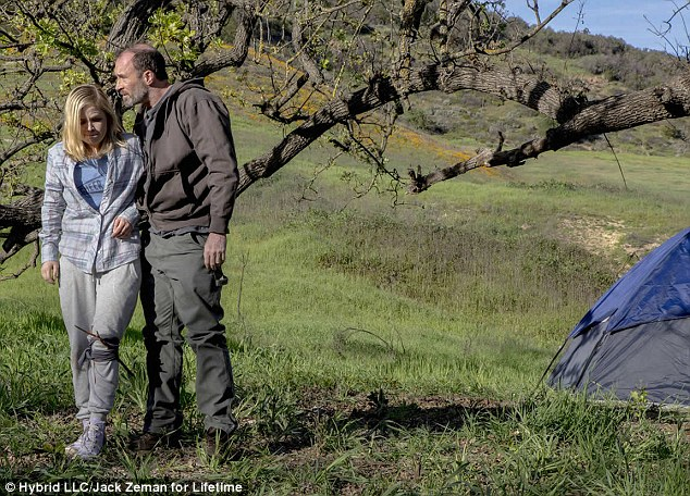 A made-for-TV Lifetime movie, 'Kidnapped: The Hannah Anderson Story', was due to air on Saturday at 8pm. It starsJessica Amlee as Hannah (left) and Scott Patterson, of Gilmore Girls fame, as DiMaggio (right)