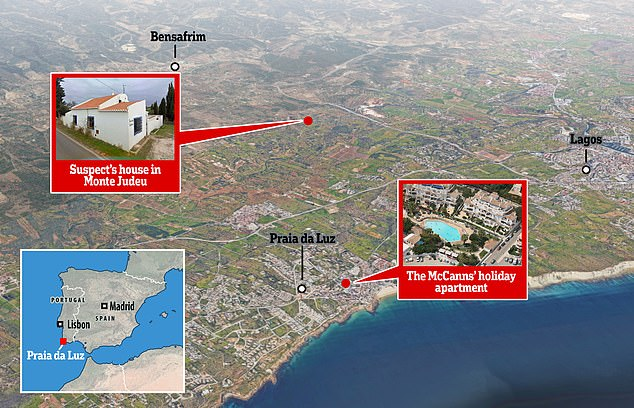 The German suspect had lived in a warehouse outside Praia da Luz for several years but moved into a campervan just before Maddie vanished