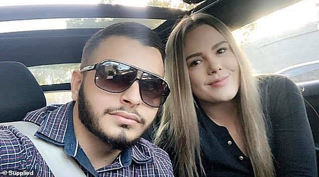 The court heard Ms Young (above, with her fiance) has denied the charges whatsoever - to both police and to the alleged victim's mother