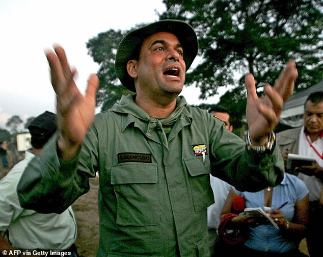 Salvatore Mancuso (photographed December 9, 2004) concluded 12-year drug sentence in the United States in March but is still in custody well past the 90-day limit allowed by law. The 55-year-old was a top ranking leader with theUnited Self-Defense Forces of Colombia paramilitary group. He lawyer filed a motion in a Washington, DC court Monday to have him deported to Italy as soon as possible instead of Colombia, where he could be killed