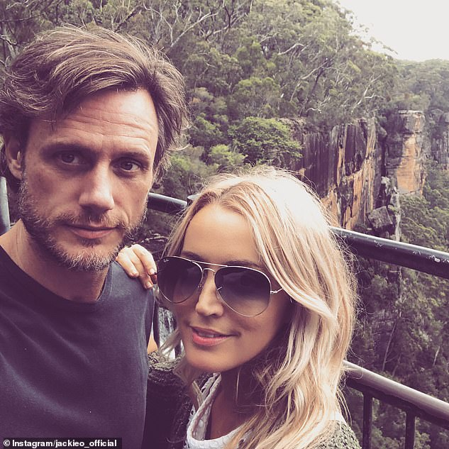 Exes: Jackie shares custody of Kitty with her ex-husband Lee Henderson (left). They separated in 2018 after 15 years of marriage, but remain on amicable terms as they co-parent their child