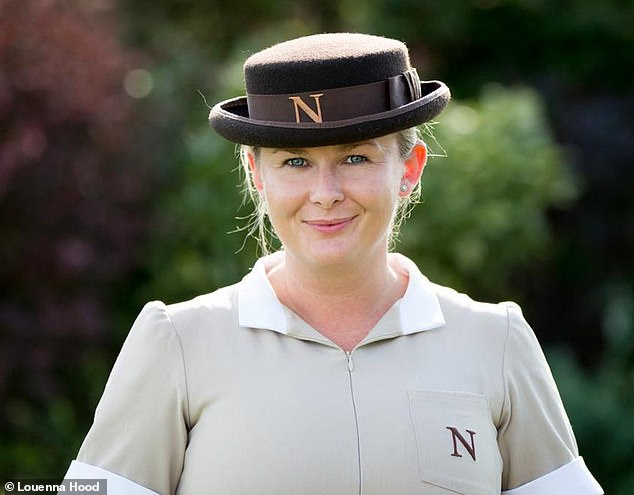 Louenna Hood, 36, from Suffolk, graduated from Norland College, the world's most elite nanny school, 15 years ago and since worked with many high-profile families. She is pictured in her uniform