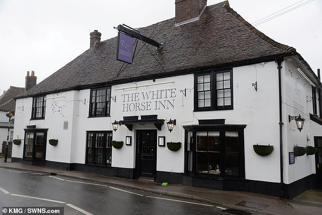 Diamant has been allowed to continue to run his pub the White Horse Inn in Bridge, (pictured) near Canterbury, Kent, because the judge said he had 'no desire to upset his business'