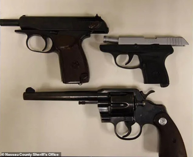Three handguns were recovered from the school, as well as boxes of .38 caliber ammunition