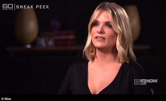 Speaking out: In a teaser clip for a 60 Minutes episode set to air on Sunday, the 38-year-old admitted she had been left in 'some pretty dark places' following the constant vitriol she receives on social media