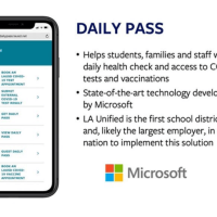 Los Angeles Unified School District launches Daily Pass to coordinate health checks, COVID tests, vaccinations | #coronavirus | #kids. | #children | #schools