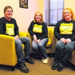 Everyday Connections now has an office on the third floor of the Community Agency Building in downtown Seymour. Board members are, from left, Jeremy Hendrix, Chrystal Henry and Samantha Sandlin.  Zach Spicer