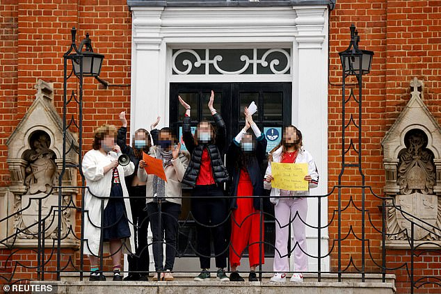 The stories that have come to light in the past few weeks have laid bare a climate in schools that normalises sexist and abusive behaviour towards women. (Pupils stage a protest against rape culture at Highgate School in London)
