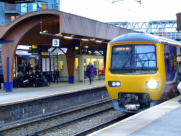 She boarded a train at Oxford Road station (pictured), which was consequently delayed by an hour while British Transport Police were called to escort Ndukwe away from the scene