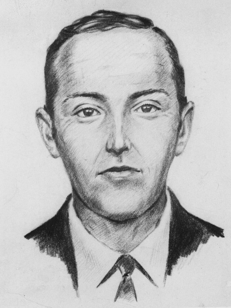 An FBI sketch of Northwest Airlines hijacker, D.B. Cooper. Cooper took control of a commerical airliner headed for Seattle in 1971. True crime fans have discussed him for decades.
