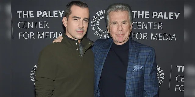 Callahan Walsh (left) with his father John Walsh.