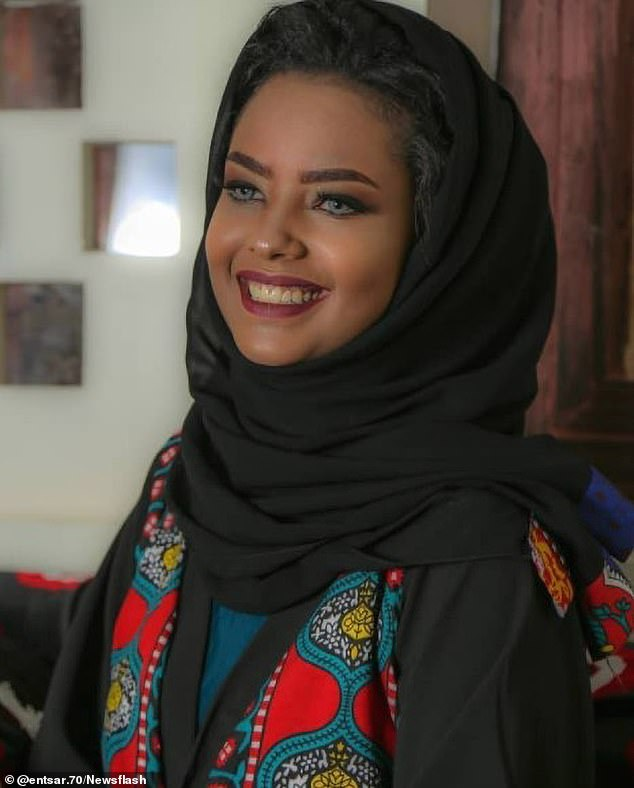 Entesar Al-Hammadi, 20, (pictured) has been snatched off the street by Iran-backed Houthi rebels who are planning to prosecute her in a kangaroo court for being a bad influence