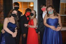 High school students from Middle College at APSU celebrate their 2021 Prom at The Tanglewood House on Apr. 24, 2021. (Lee Erwin)