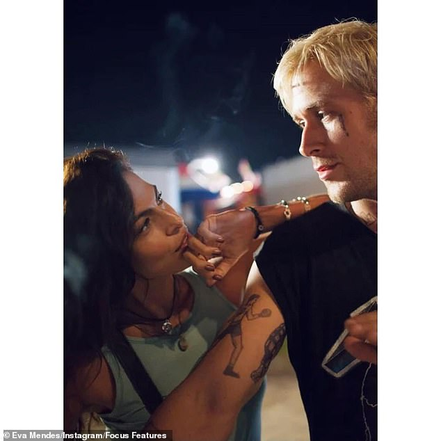 The look of love: Eva married actor Ryan Gosling (both seen here in 2012 filmThe Place Beyond The Pines) in 2011 and they share daughters Esmerelda and Amanda