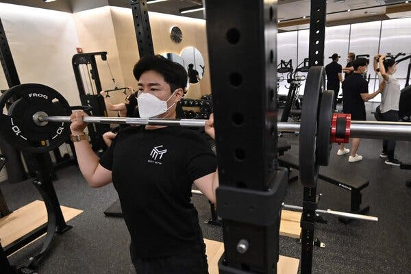 Under new coronavirus regulations in Seoul, the music played at gyms must be no faster than 120 beats per minute.